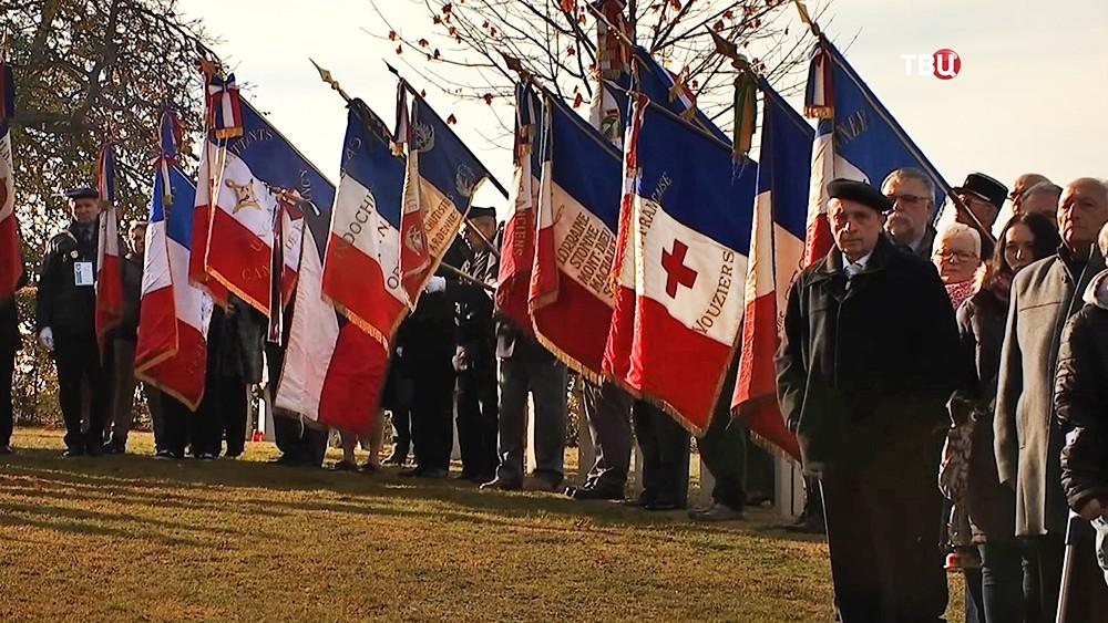 Траурные мероприятия на мемориальное кладбище Шестр де Вузье во Франции