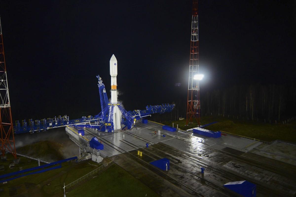 "Ракета-носитель ""Союз - 2"" на космодроме Плесецк"