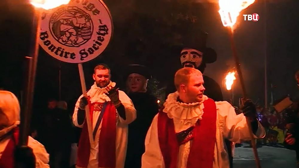 Празднование ночи Гая Фокса в Великобритании