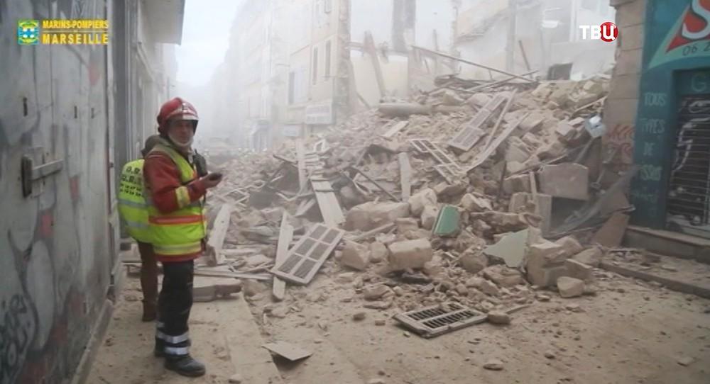 Обрушение дома в Марселе, Франция