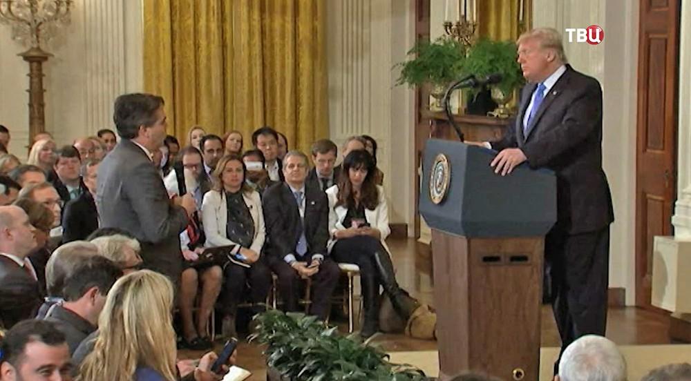 Дональд Трамп конфликтует с журналистом канала CNN