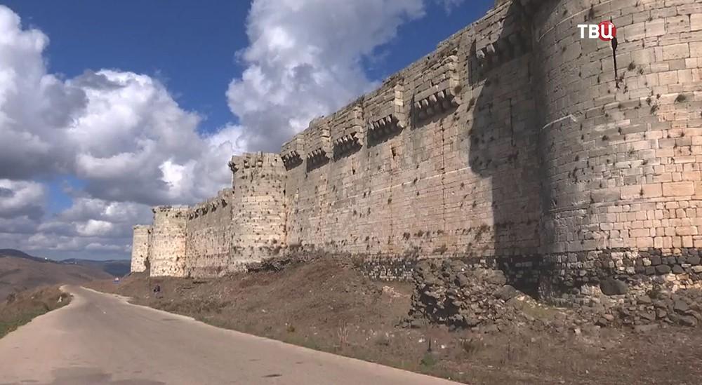 Крепость Крак-де-Шевалье в Сирии