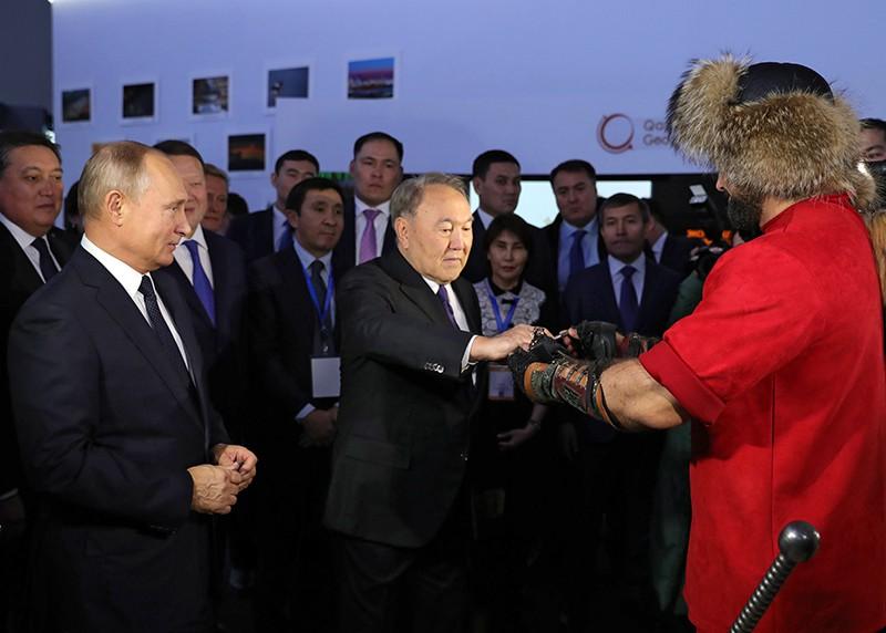 Визит президента России Владимира Путина в Казахстан