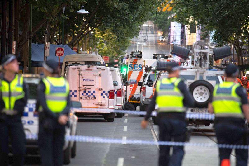 Полиция на месте теракта в Мельбурне