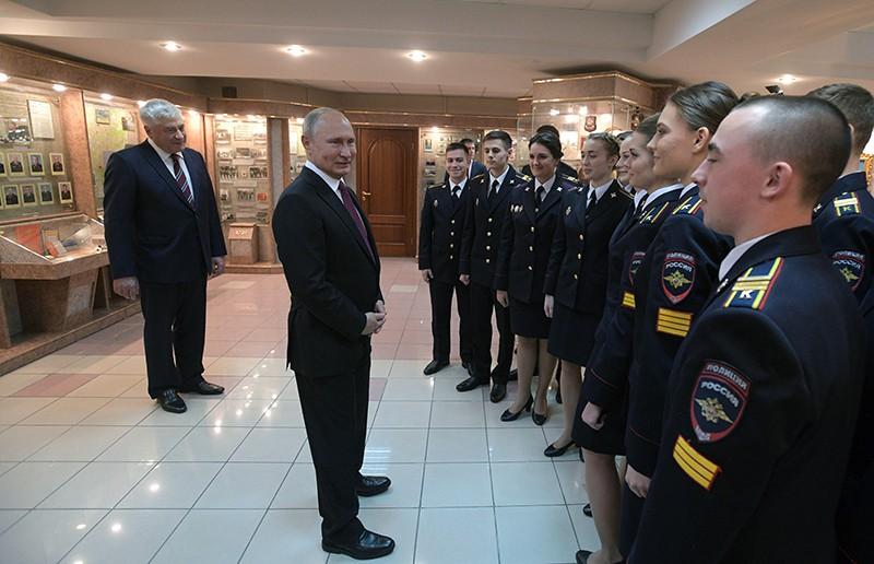 Владимир Путин посетил Московский университет МВД России