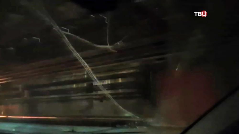 Обрыв кабеля в тоннеле