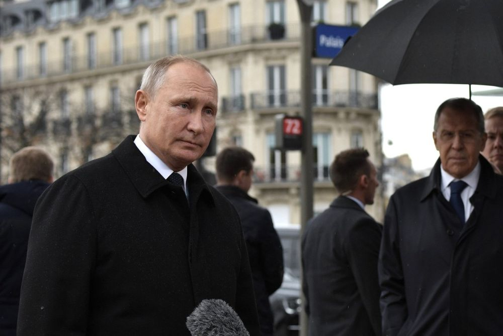 Владимир Путин в Париже