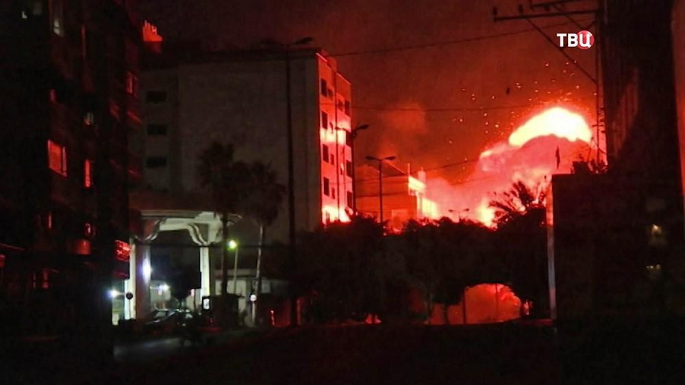 Последствия авиаудар ВВС Израиля