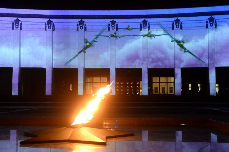 Вечный огонь возле Музея Победы