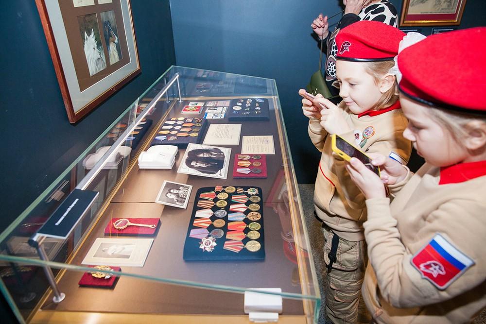 Юные посетители Музея Победы на Поклонной горе