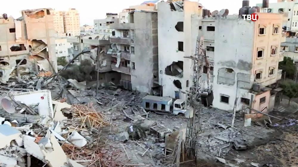 Последствия обстрела Израиля с территории Сектора Газа