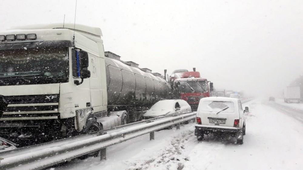ДТП, как следствие снегопада