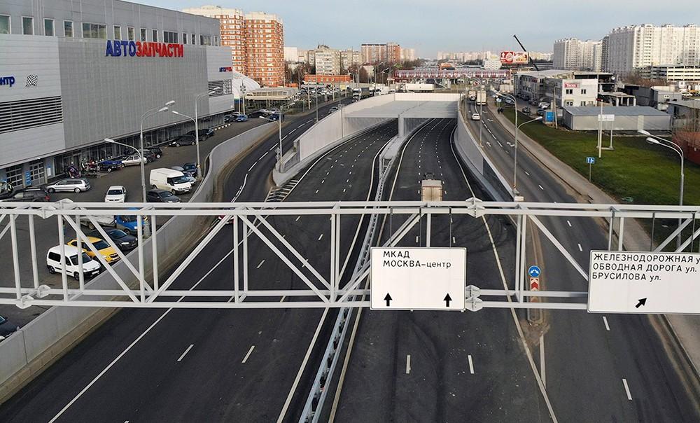 Новая эстакада прямого хода на Варшавском шоссе