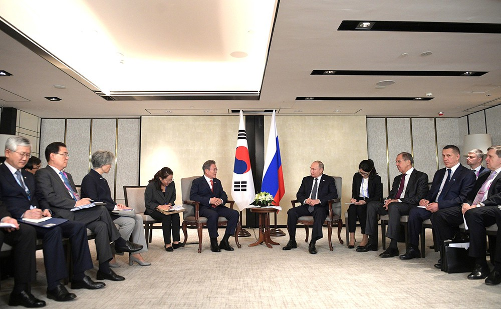 Владимир Путин и президент Республики Корея Мун Чжэ Ин