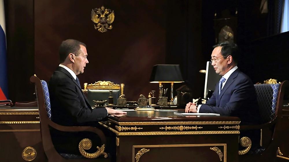 Дмитрий Медведев и глава Республики Саха (Якутия) Айсен Николаев