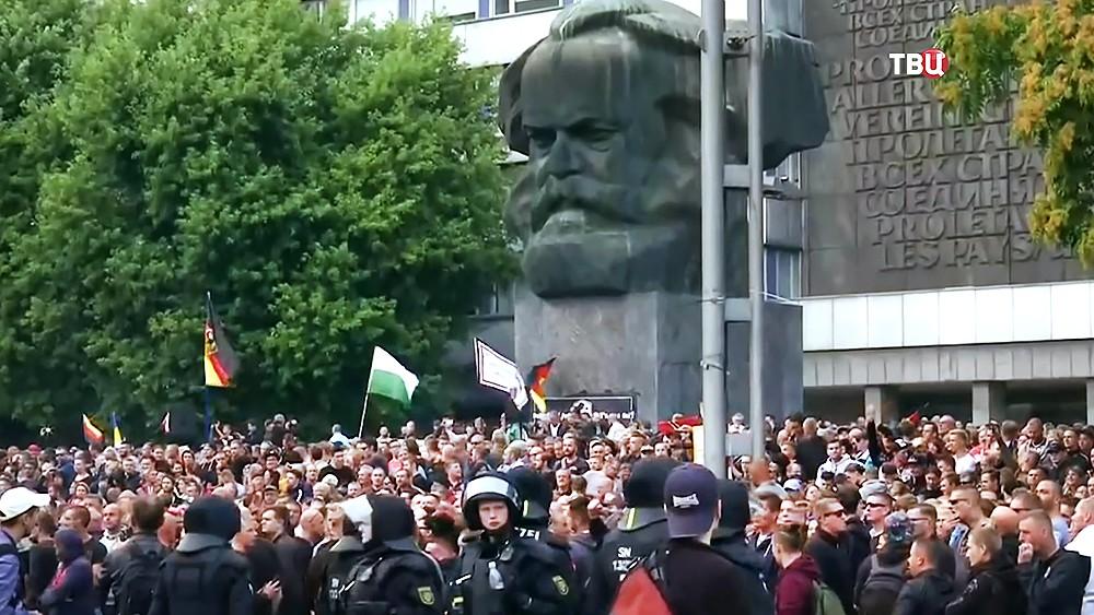 Антимиграционные митинги в Хемнице, Германия