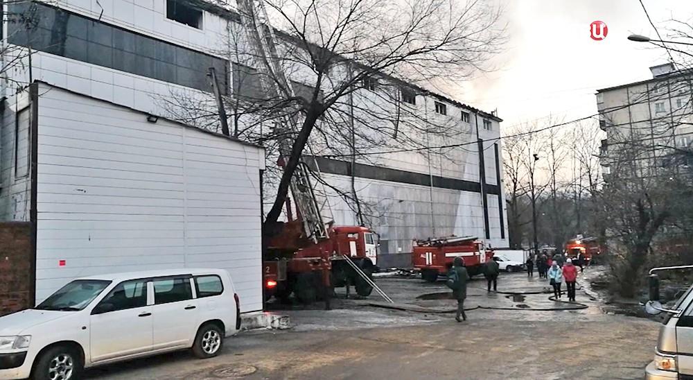 Пожар в ТЦ во Владивостоке