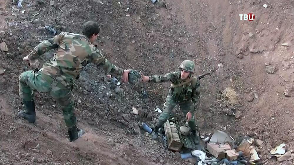 Уничтожение боеприпасов на полигоне под Дамаском, Сирия