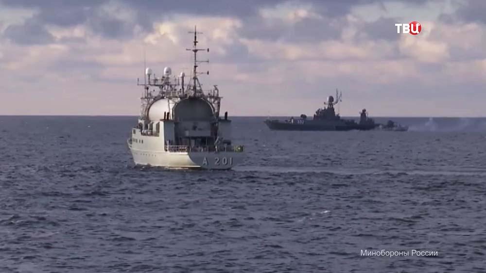 Учения кораблей Балтийского флота России