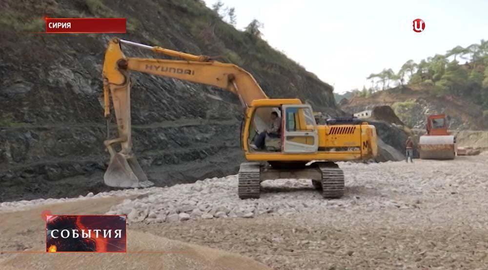 Строительство водохранилища в Сирии