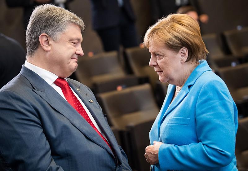 Пётр Порошенко и Ангела Меркель