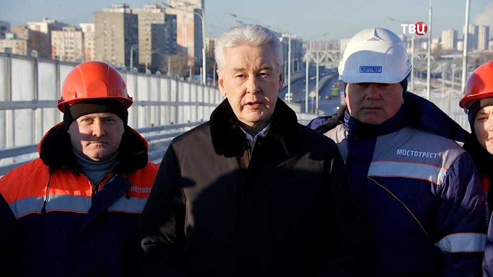 Сергей Собянин и дорожники