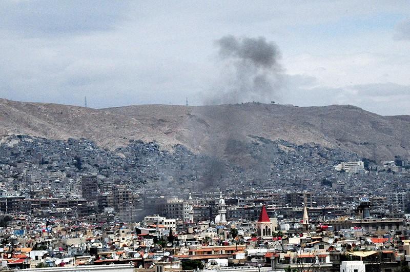 Ракетная атака на юго-западной окрестности Дамаска
