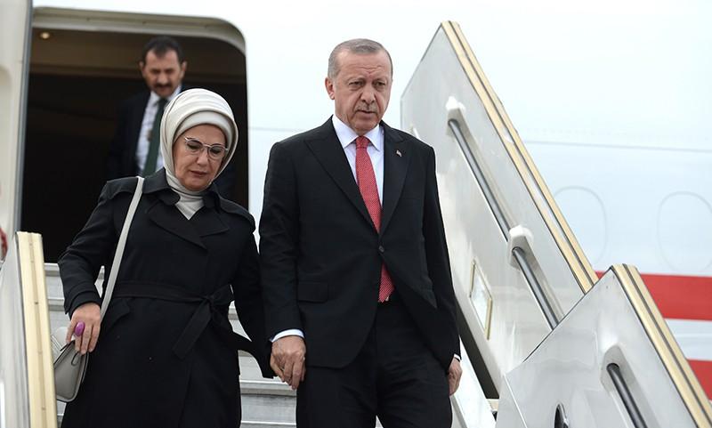 Президент Турции Реджеп Тайип Эрдоган и его жена Эмине Эрдоган