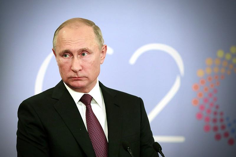 Президент России Владимир Путин на пресс-конференции по результатам участия в саммите G20