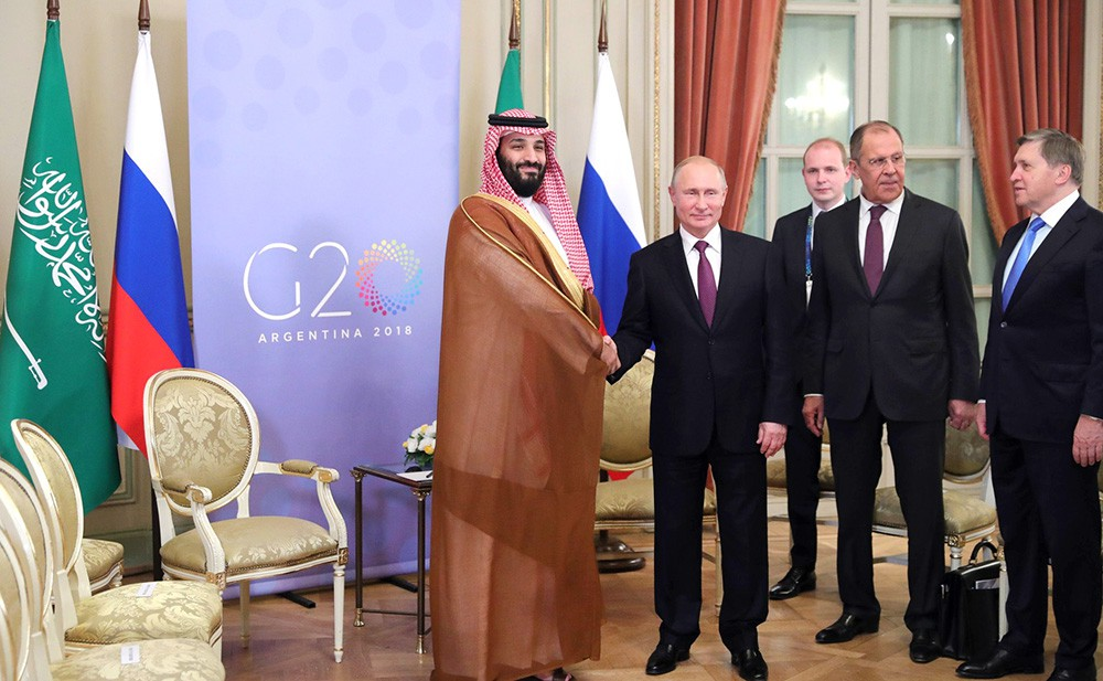 Владимир Путин и Мохаммед бин Салман