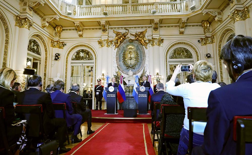 Заявления для прессы по итогам российско-аргентинских переговоров