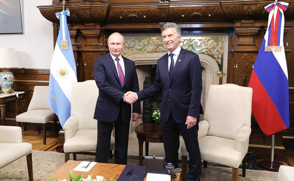 Президент Владимир Путин и президент Аргентины Маурисио Макри
