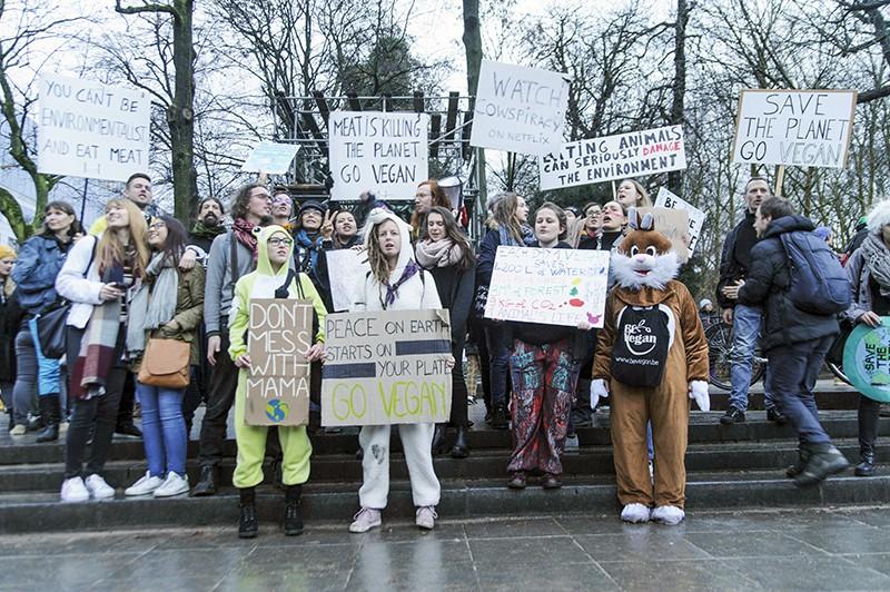 Акция протестов в Париже