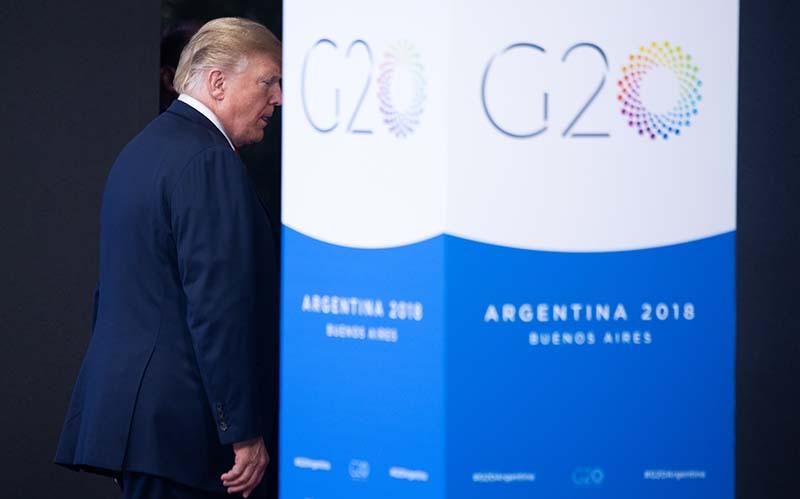 Саммит G20. Президент США Дональд Трамп