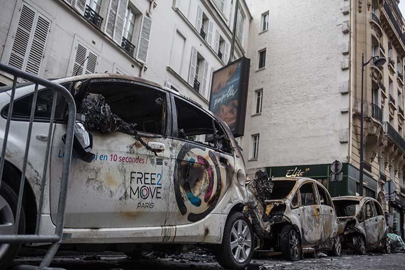 Последствия протестов в Париже