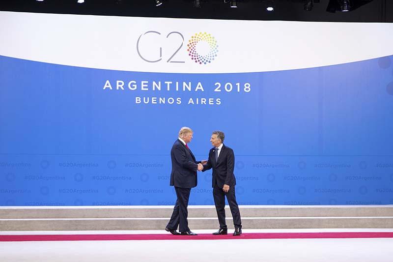 Президент Аргентины Маурисио Макри и президент США Дональд Трамп