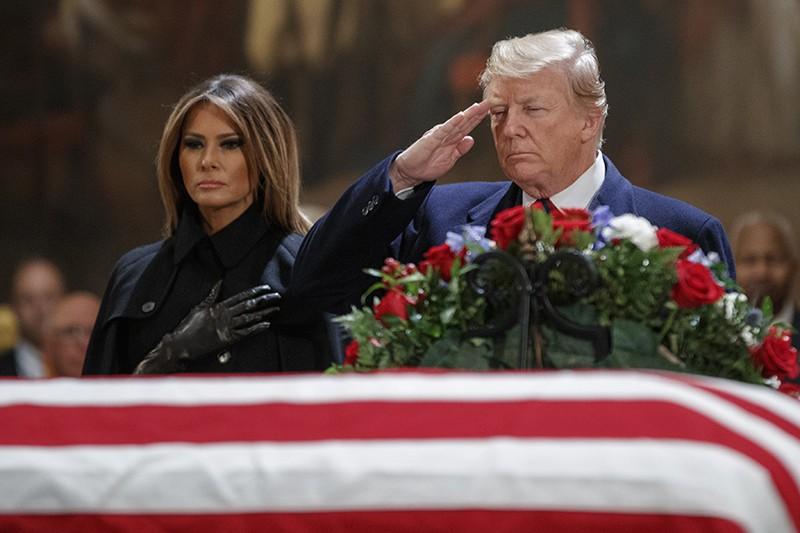 Церемония прощания с Джоржем Бушем-старшим