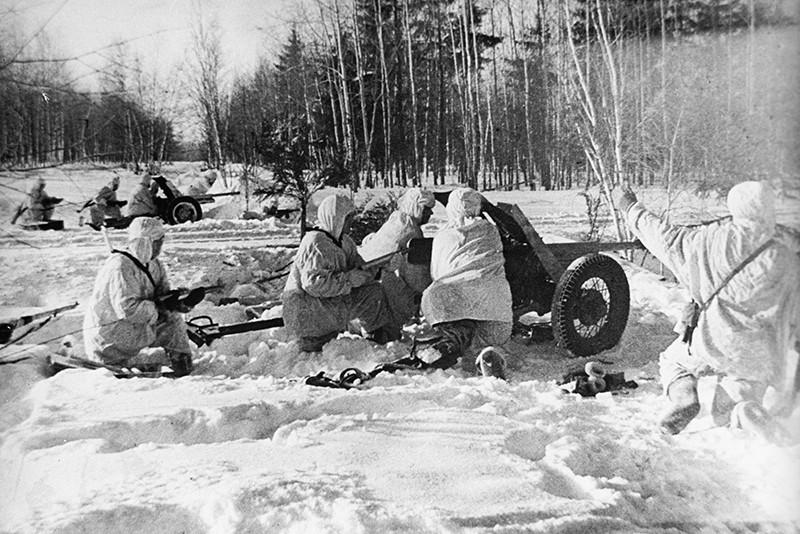 Момент битвы за Москву, 1941 год