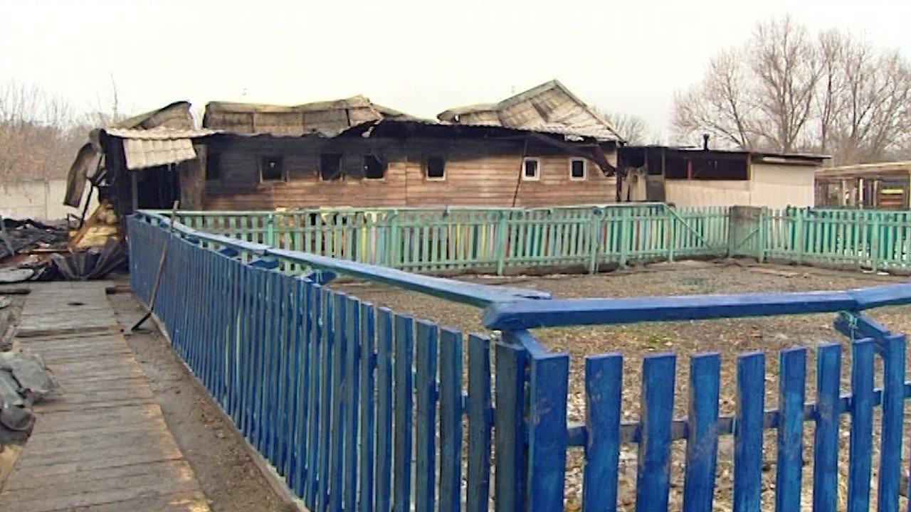 Последствия пожара в приюте для животных на северо-западе столицы