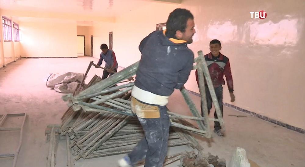 Строительство школы в Сирии