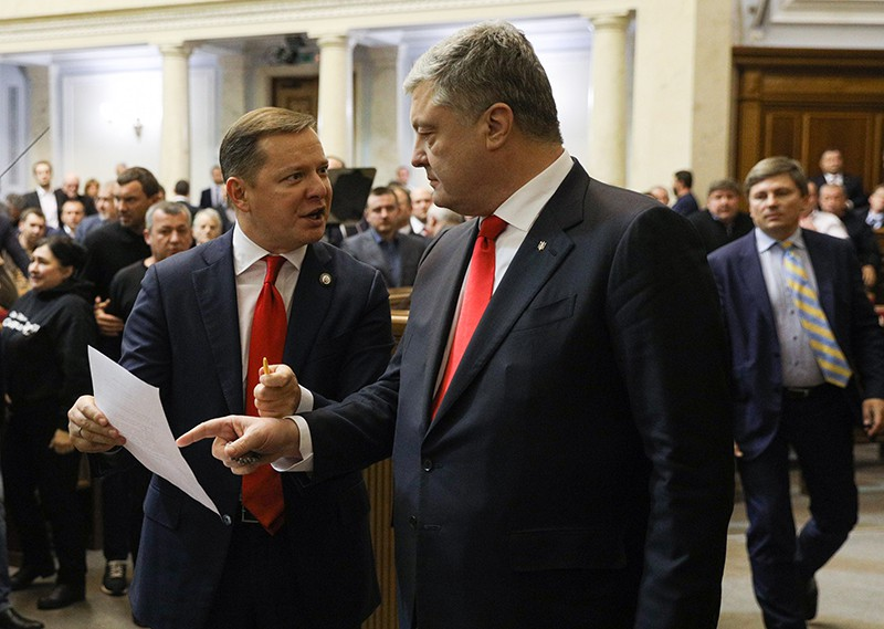 Петр Порошенко на заседании Верховной Рады Украины