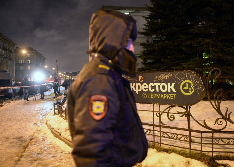 На месте теракта в Петербурге