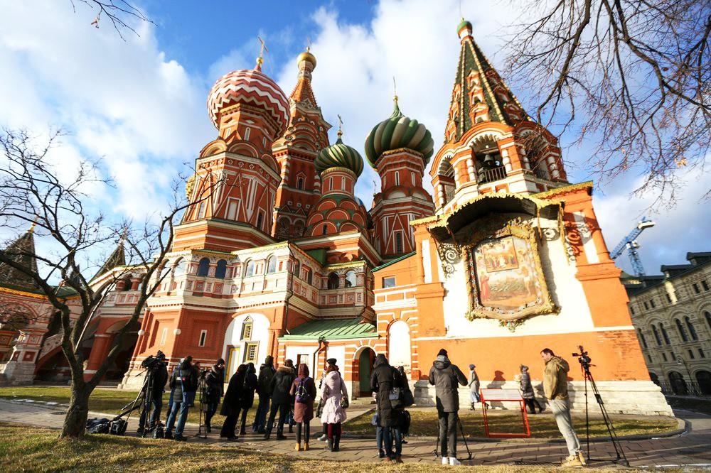 Церкви Святого Иоанна Блаженного в Покровском соборе на Красной площади после реставрации