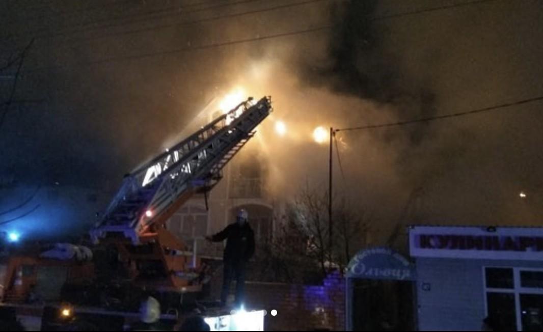Пожар в частном секторе Анапы