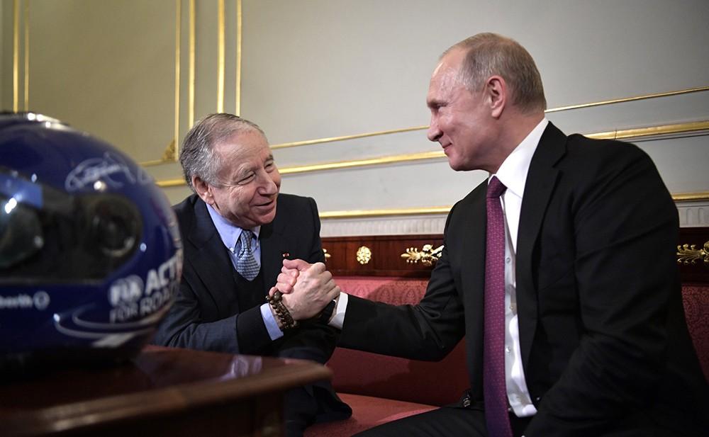 Владимир Путин и Жан Тодт
