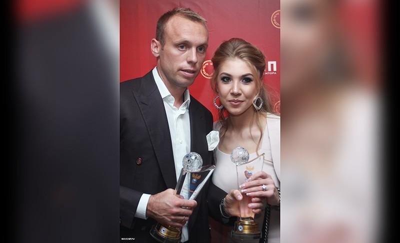 Денис Глушаков и его жена