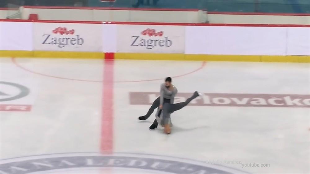 Фигурист роняет партнершу головой об лед