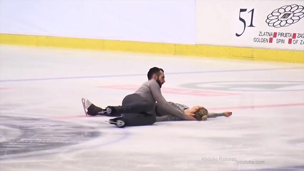 Американский фигурист уронил партнершу головой об лед