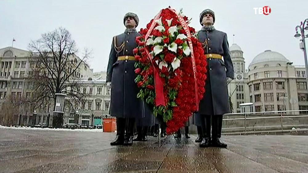 Церемония у памятника Гренадерам - героям Плевны