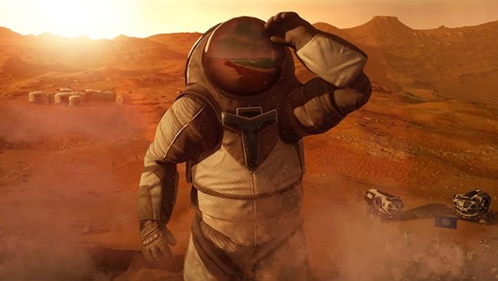 Полет на Марс (графика)